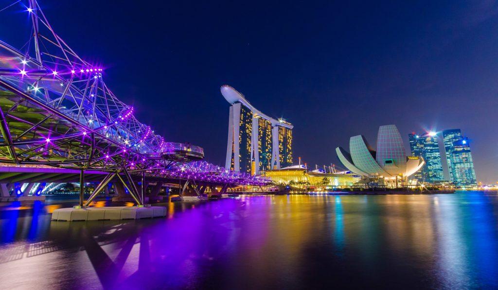 Marina Bay Promenade in Singapore