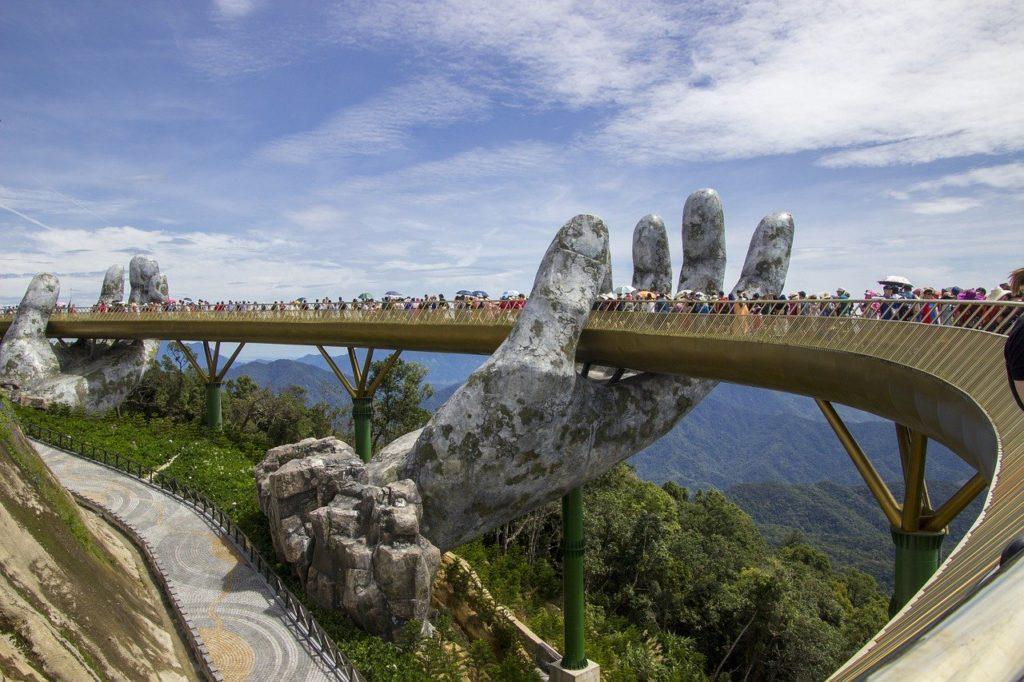 Golden Bridge in Ba Na Hills